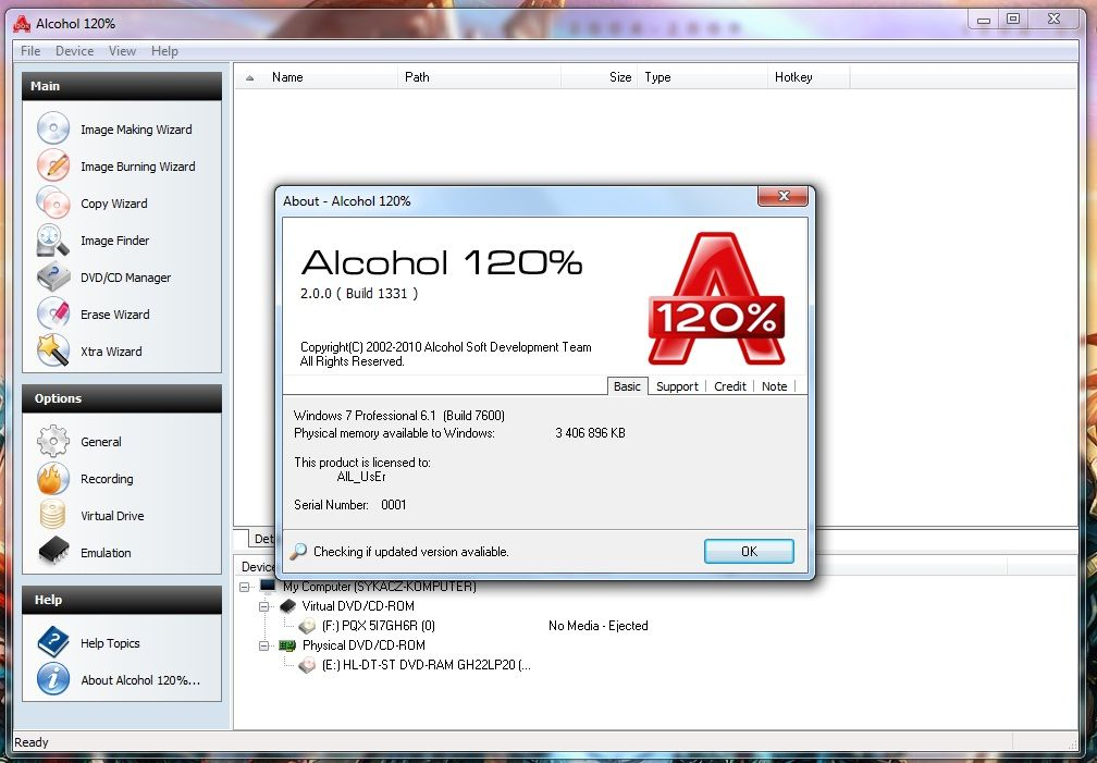 Download Alcohol 52% - free - latest version